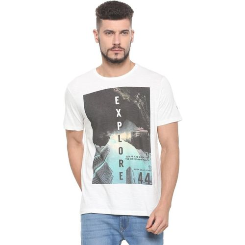 Allen Solly Printed Men Round Neck White T-Shirt