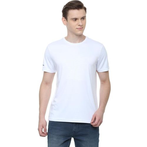 Allen Solly Striped Men Round Neck White T-Shirt