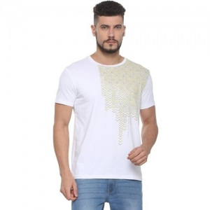 Allen Solly Printed Men Round or Crew White T-Shirt