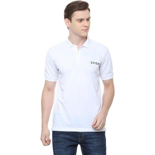 Allen Solly Solid Men Polo Neck White T-Shirt