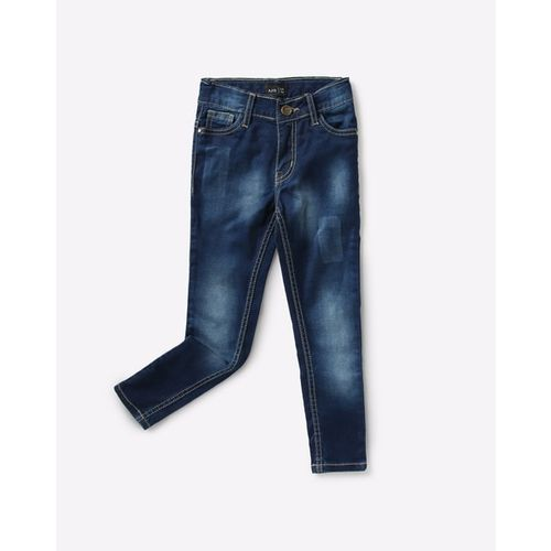 AJIO Heavy-Wash Slim Fit Jeans