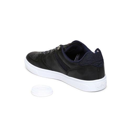 Levis Men Black Solid Regular Sneakers