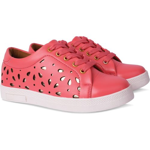 Krafter New Fashionable Collection of Sneakers For Womens and Girls Sneakers For Women(Pink)