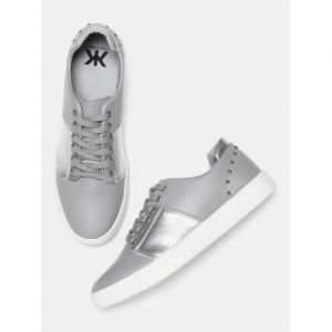 Kook N Keech Grey Synthetic  Sneakers