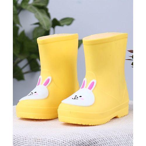 Cute Walk by Babyhug Gumboots Bunny Face Design - Yellow