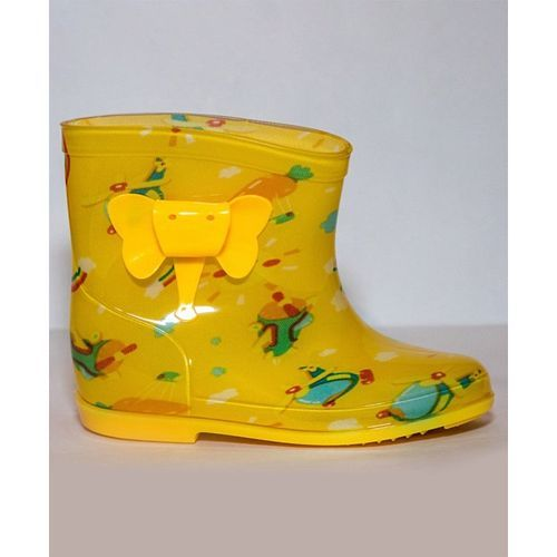Little Maira Rainbow Print Rain Boots - Yellow