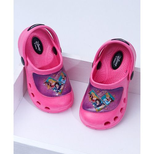 Cute Walk by Babyhug Clogs Disney Princess Print - Pink