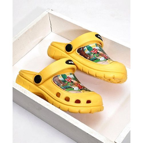 Cute Walk by Babyhug Clogs With Back Strap Minnie Mouse Design - Yellow