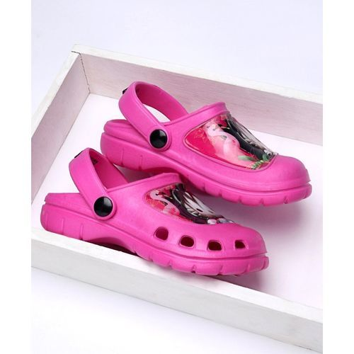 Cute Walk by Babyhug Clogs With Back Strap Hello Kitty Design - Pink