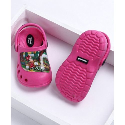 Cute Walk by Babyhug Clogs With Back Strap Minnie Mouse Design - Pink
