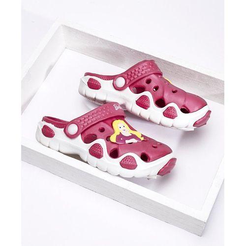 Barbie Clogs With Back Strap & Applique - Pink