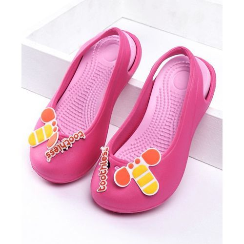 Toothless Clogs With Back Strap Character Patch - Pink