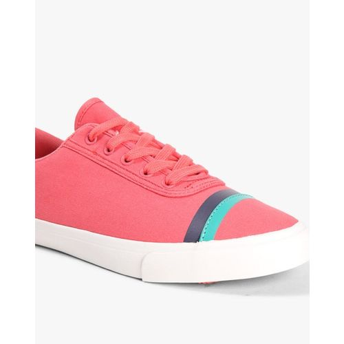 UNITED COLORS OF BENETTON Low-Top Lace-Up Shoes with Contrast Taping