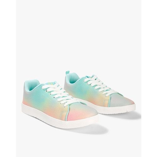 UNITED COLORS OF BENETTON Rainbow-Dyed Low-Top Lace-Up Shoes