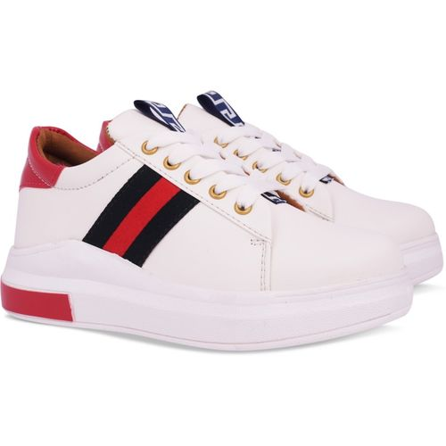 Krafter women sneakers Sneakers For Women(White)