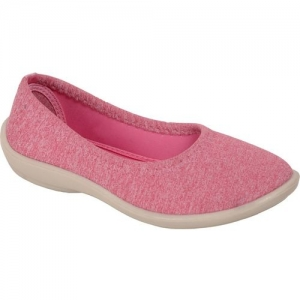 Bata Pink Synthetic Slip-On Casual Shoes