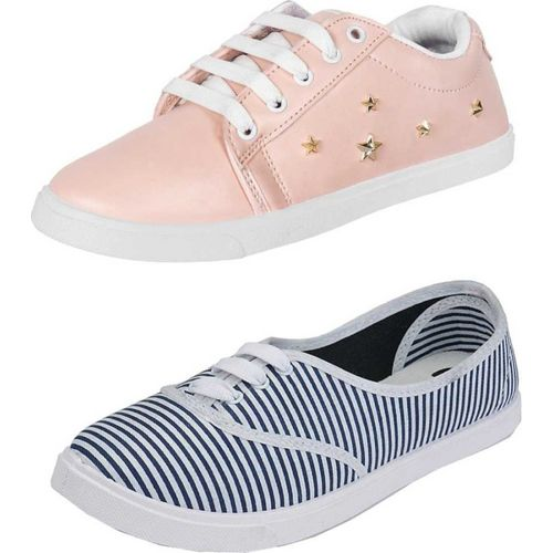 Shoefly Combo(2)-766-798 Sneakers For Women(Multicolor)
