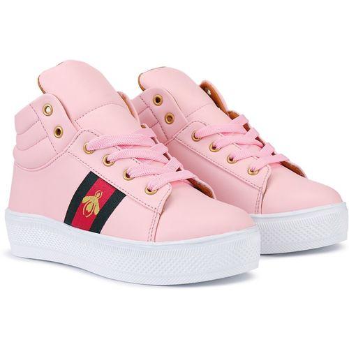 Krafter women trendy boots for women High Tops For Women(Pink)