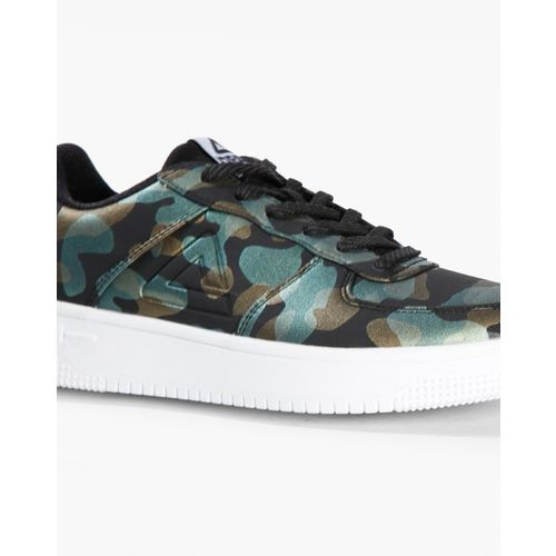 Peak Camouflage Print Lace-Up Casual Shoes