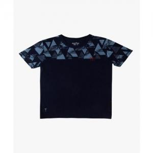 Gini & Jony Kids Palm Tree Palm Tree Navy Printed T-Shirt