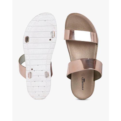 FRISBEE Metallic Dual-Strap Slip-Ons