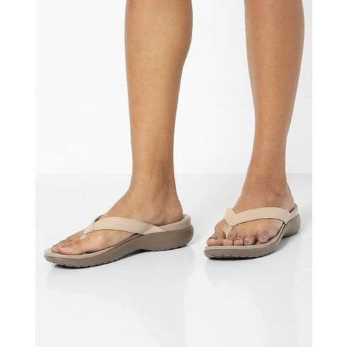 CROCS Capri V Genuine Leather Flip-Flops