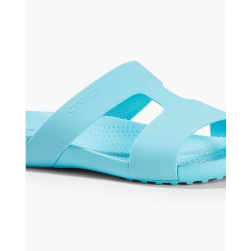 CROCS Serena Textured Slides with Cutouts