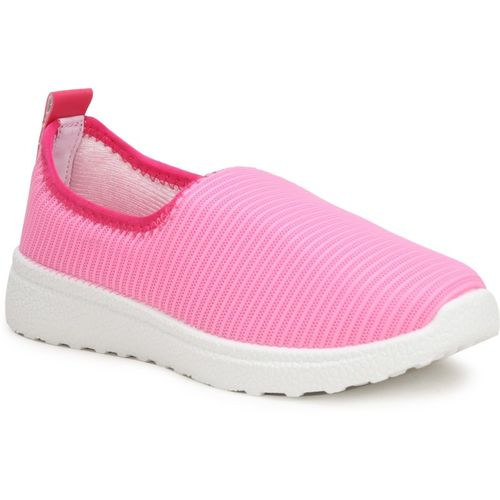 Fuel Women's & Girl's Comfortable Soft Fabric Slip On Casual Shoes Slip On Sneakers For Women(Pink)