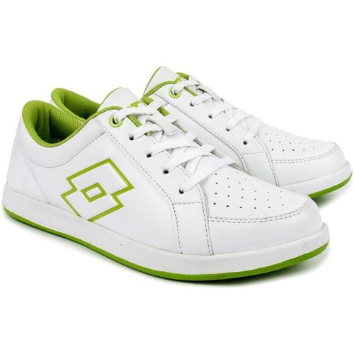 Lotto Logo Plus W Sneakers For Women(White, Green)