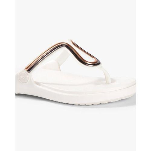 CROCS Sanrah MetalBlock Thong Strap Flat Flip-Flops