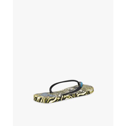 SUPERDRY Thong-Strap Flip-Flops with Printed Footbed