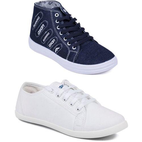 Asian Casual shoes,Running shoes,Walking shoes,Loafers,Sneakers,Traning shoes,Gym shoes. Sneakers For Women(White, Blue)