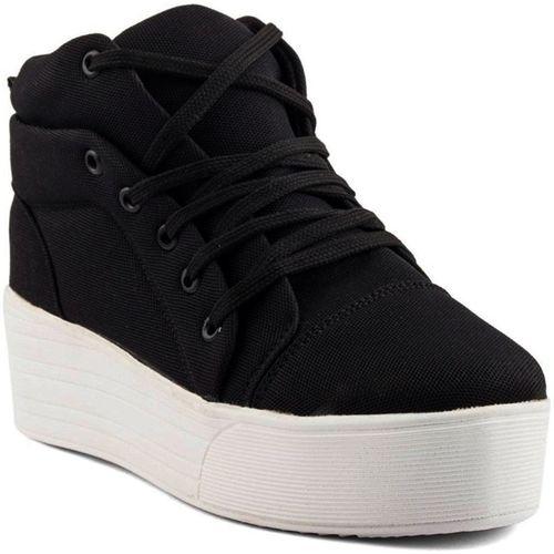 PrasKing Stylish Premium Sneakers For Women(Black)