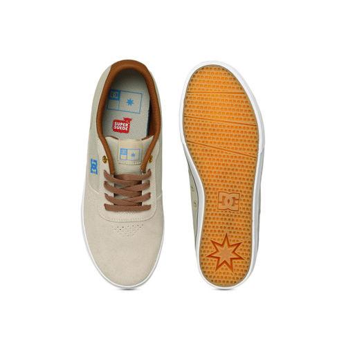 DC Men Beige SWITCH S M Leather Sneakers