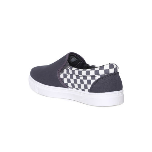 Flying Machine Men Grey Slip-On Sneakers
