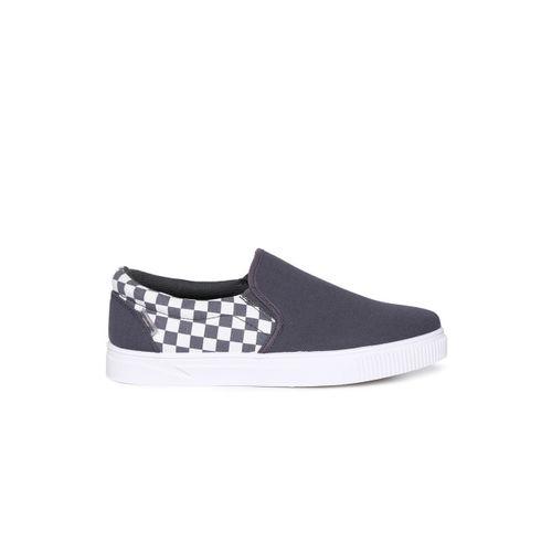 Flying Machine Men Grey Slip-On Sneakers