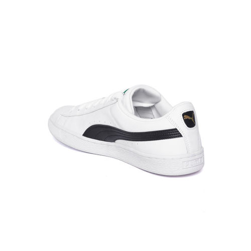 Puma Men White Basket Classic LFS Leather Sneakers