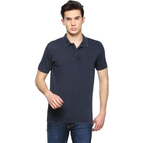 Allen Solly Solid Men Polo Neck Blue T-Shirt