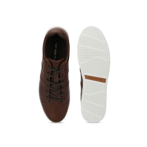Red Tape Men Brown Sneakers