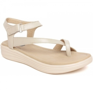BELLA TOES Beige Synthetic Leather Heels