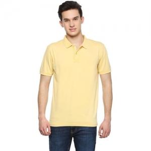 Allen Solly Solid Men Polo Neck Yellow T-Shirt