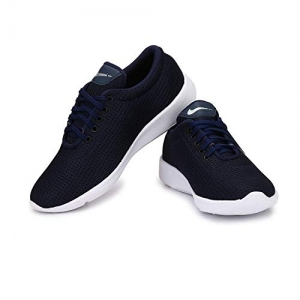 Ind Crown Blue Synthetic Lace Up Sport Shoes