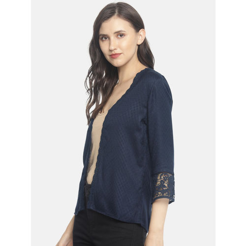 CODE by Lifestyle Women Black Solid Open Front Shrug