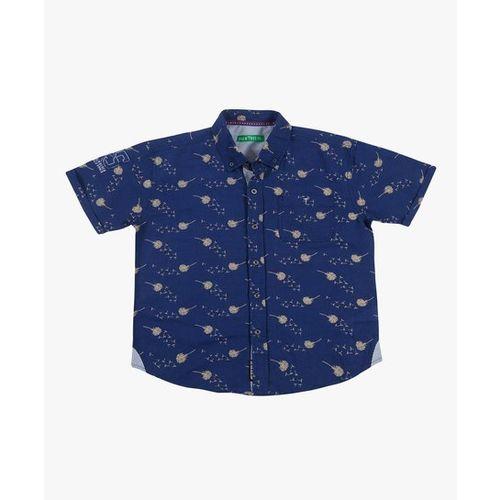Gini & Jony Kids Palm Tree Navy Printed Shirt