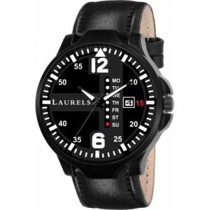 Laurels Lwm-Cm-II-020202 Black Commodor Day & Date Function Analog Watch