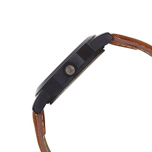 FINZ Metal Analogue Quartz Brown and Black Dial Watch (MEN-WHITE_IIK10)