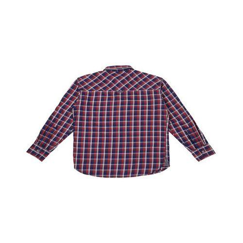Gini & Jony Kids Red & Navy Checks Shirt