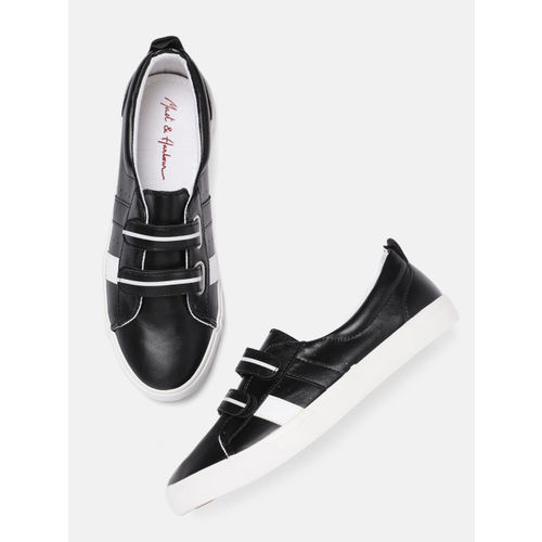 Mast & Harbour Women Black Sneakers