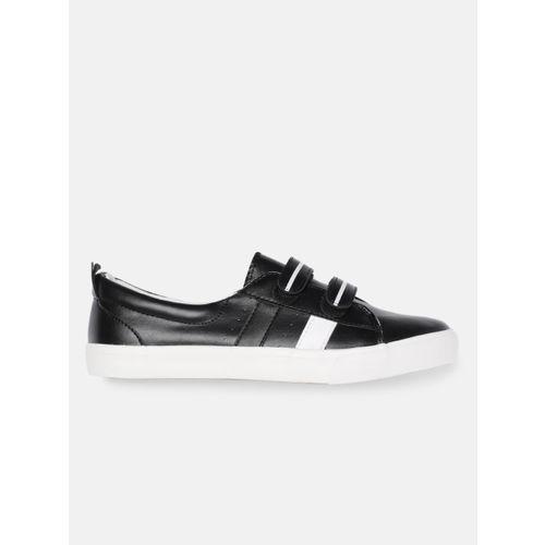 Mast & Harbour Women Black Sneakers