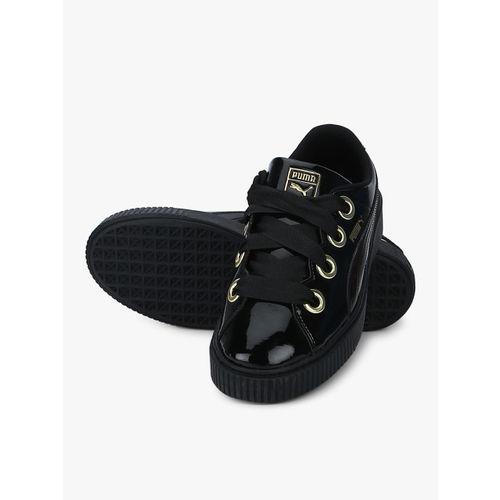 Puma Platform Kiss Patent Black Sneakers
